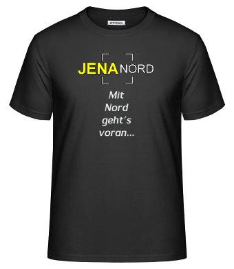 Das JENA NORD T-Shirt mit dem Mit Nord geht's voran Logo