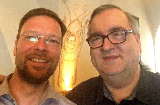 Dr. Thomas Nitzsche und Rainer Sauer im April 2019